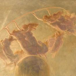 Gaetano Previati. La danza delle ore, 1899. Fondazione Cariplo, Gallerie d'Italia - Piazza Scala, Milán