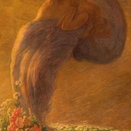 Gaetano Previati. El sueño, 1912.
