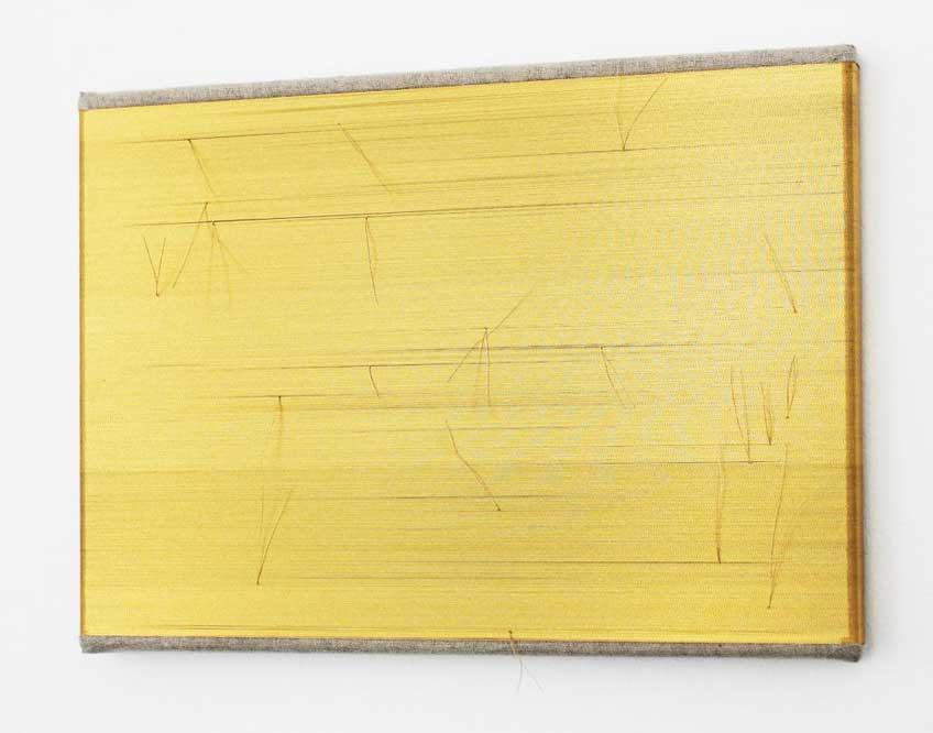 Drawing Room 2018. Anna TALENS. Reparando el horizonte dorado, 2017. Galería Paz y Comedias, Valencia