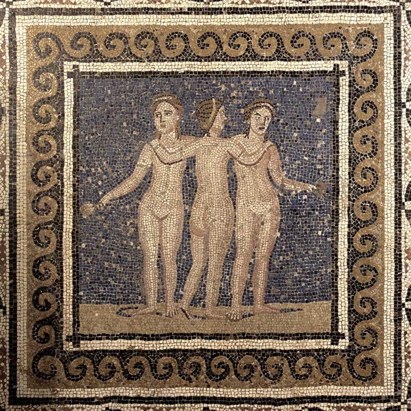 Mosaico de las Tres Gracias. 150 años de arqueología en España.