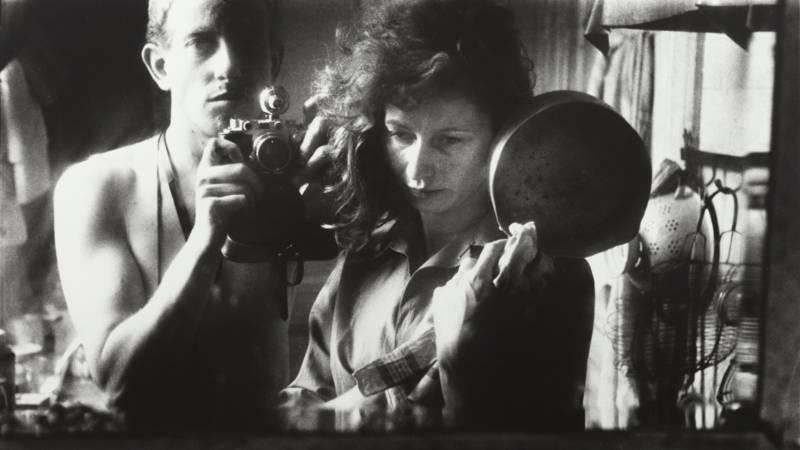 Ed van der Elsken. Self-portrait with Ata Kandó, Paris, 1952. Nederlands Fotomuseum © Ed van der Elsken. Collection Ed van der Elsken Estate
