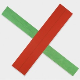 Robert Mangold. Red / Green X within X #2, 1982