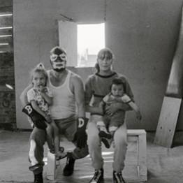 Paz Errázuriz. Black Demon, de la serie Luchadores del ring, 2002‑2003. Cortesía de la artista. © Paz Errazuriz