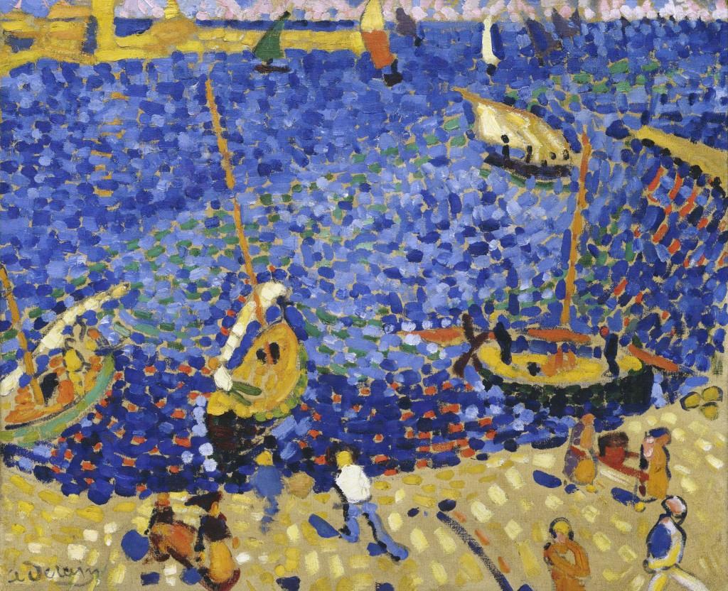André Derain.  Bateaux à Collioure, 1905 Kunstsammlung Nordrhein-Westfallen, Düsseldorf. ©André Derain, VEGAP, Madrid, 2016 © VG Bild-Kunst, Bonn