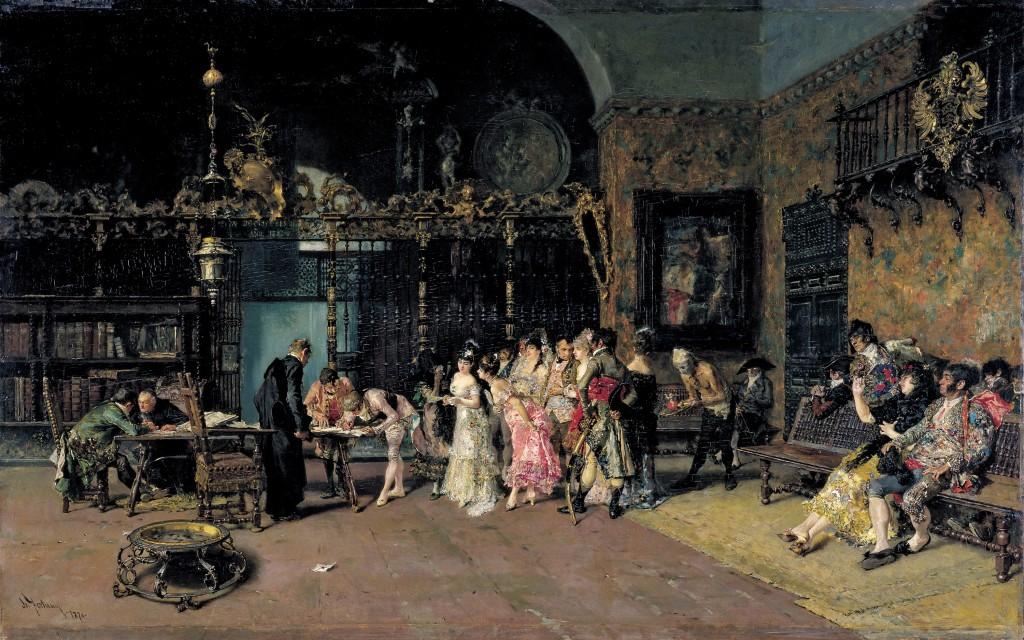 Mariano Fortuny. La vicaría, hacia 1868-1870. Museu Nacional d´Art de Catalunya