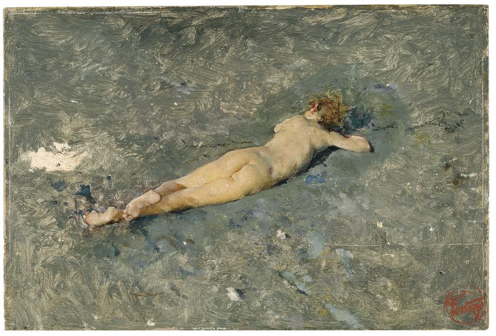 Mariano Fortuny. Desnudo en la playa de Portici, 1874. Museo Nacional del Prado