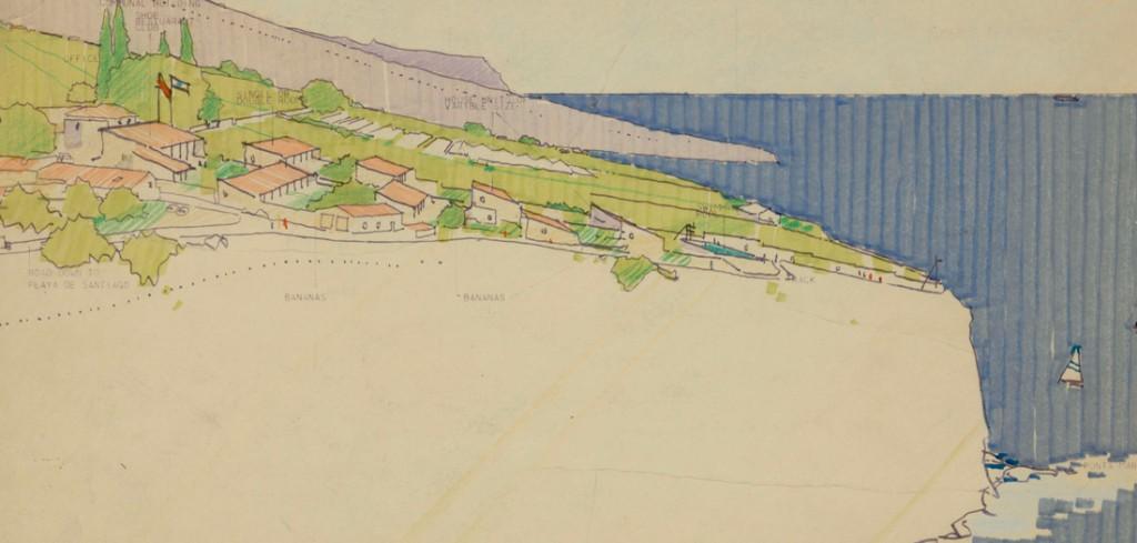 Norman Foster. Estudio territorial de La Gomera (1975). © Norman Foster Foundation.
