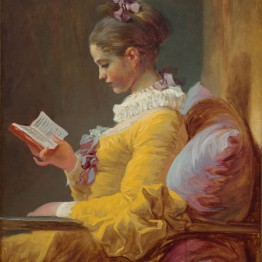 Jean Honoré Fragonard. Young Girl Reading, c. 1769. National Gallery of Art, Washington