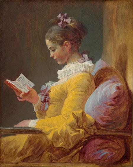 Jean Honoré Fragonard. Young Girl Reading, c. 1769. National Gallery of Art, Washington