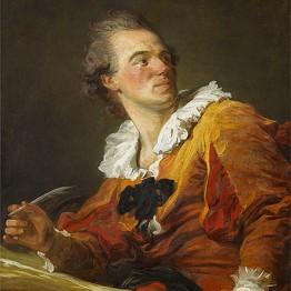 Jean Honoré Fragonard. The Writer, c. 1769. Musée du Louvre