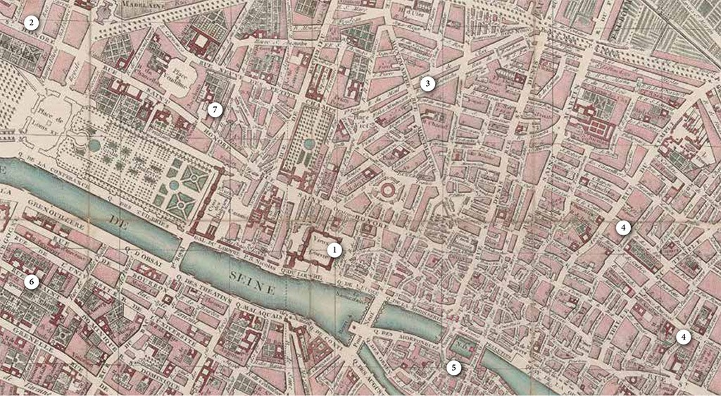 Mapa de la villa de París, 1774. Bibliothèque Nationale de France, Paris