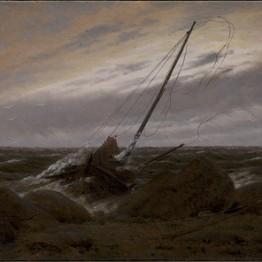 Caspar David Friedrich. Después de la tormenta, 1817. Galería Nacional de Dinamarca