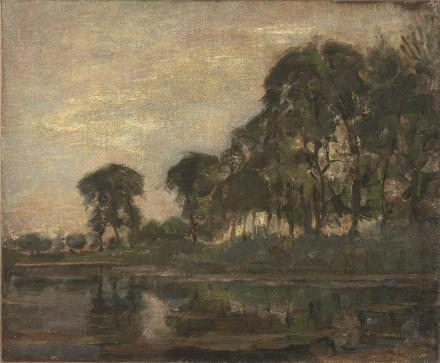 Piet Mondrian. Trees along the Gein, 1905