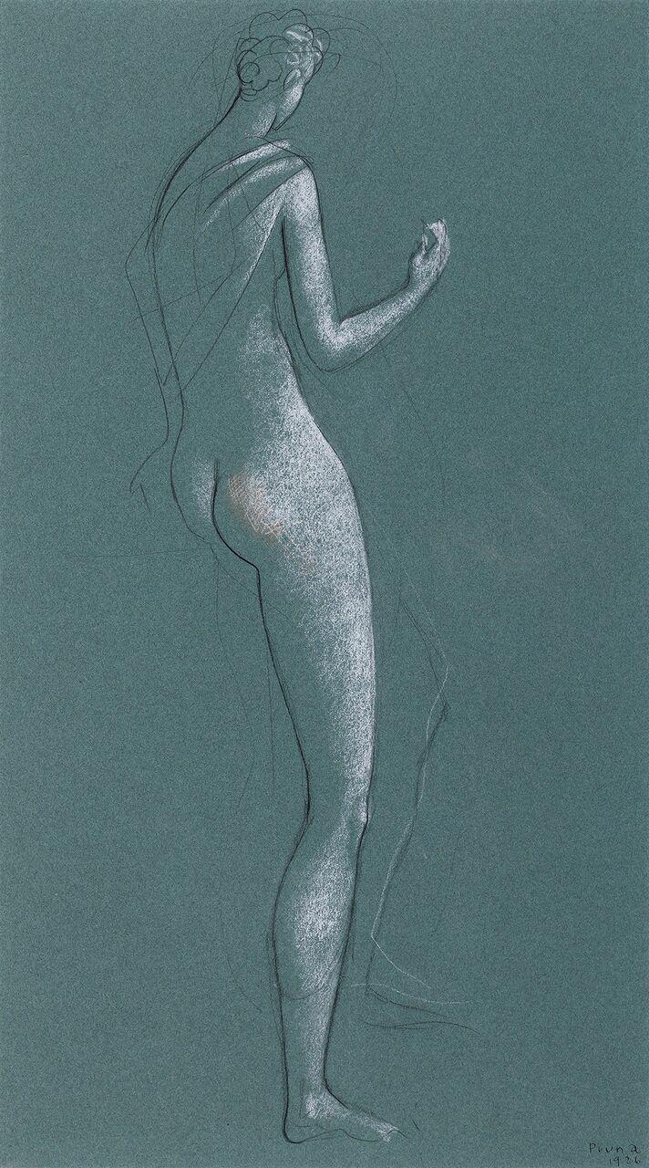 Pere Pruna. Desnudo de espaldas, 1926. Galería Guillermo de Osma