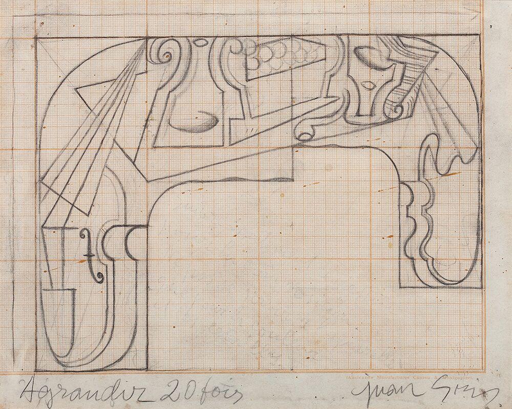 Juan Gris. Composición para cuadro Flamenco, 1921-1923. Galería Guillermo de Osma
