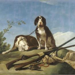 Francisco de Goya. Perros en traílla, 1775 Madrid. Museo Nacional del Prado