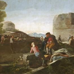 Francisco de Goya. El juego de pelota a pala, 1779. Madrid, Museo Nacional del Prado