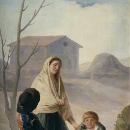 Francisco de Goya. Mujer con dos muchachos en la fuente (''Los pobres en la fuente''), 1786-1787. Madrid, Museo Nacional del Prado