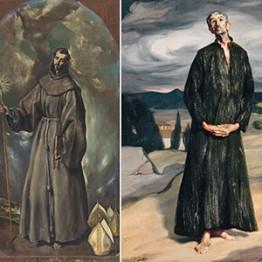 El Greco. San Bernardino de Siena, 1603. Ignacio Zuloaga. El anacoreta, 1907