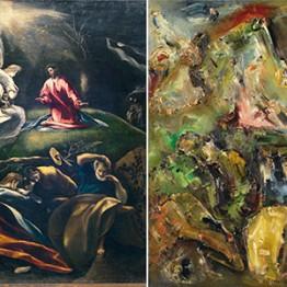 El Greco. La Oración en el Huerto, hacia 1600. Adriaan Korteweg. Composición (La Oración en el Huerto), 1913