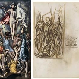 El Greco. La Resurrección de Cristo, hacia 1600. Jackson Pollock. Sin título, hacia 1937-1939
