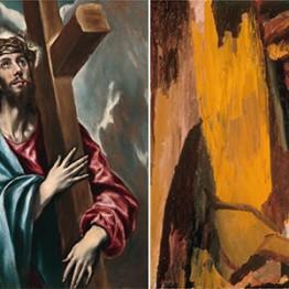 El Greco. Cristo abrazado a la cruz, hacia 1600-1605. David Bomberg. Escucha, ¡Oh, Israel!, 1955