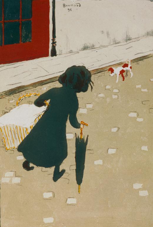 Pierre Bonnard. La pequeña lavandera, 1896. © Pierre Bonnard, VEGAP, Bilbao, 2017