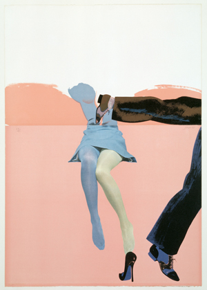 Allen Jones. Life Class B (Touching Shoe, Pink), 1968. Cortesía de British Council Collection