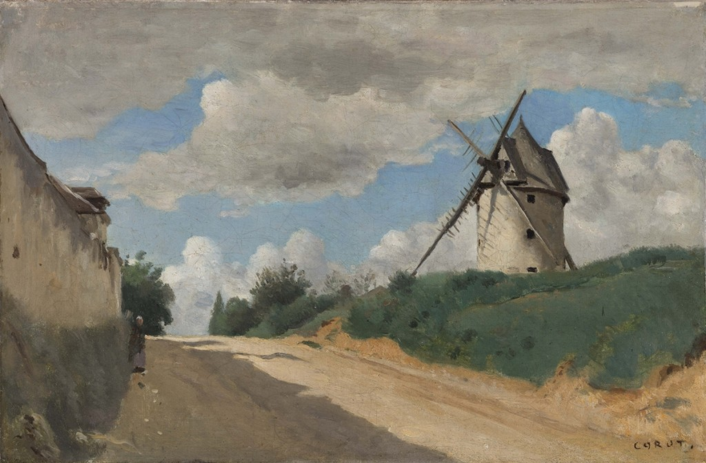 Camille Corot. Le Moulin à vent, hacia 1835-1840. © Ordrupgaard, Copenhague