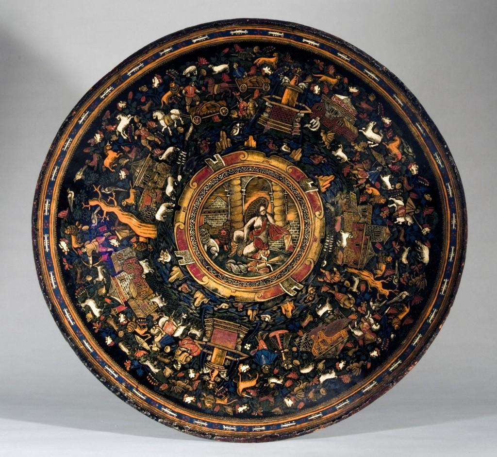 Batea. Peribán, Michoacán, México, hacia 1650. Nueva York, The Hispanic Society of America