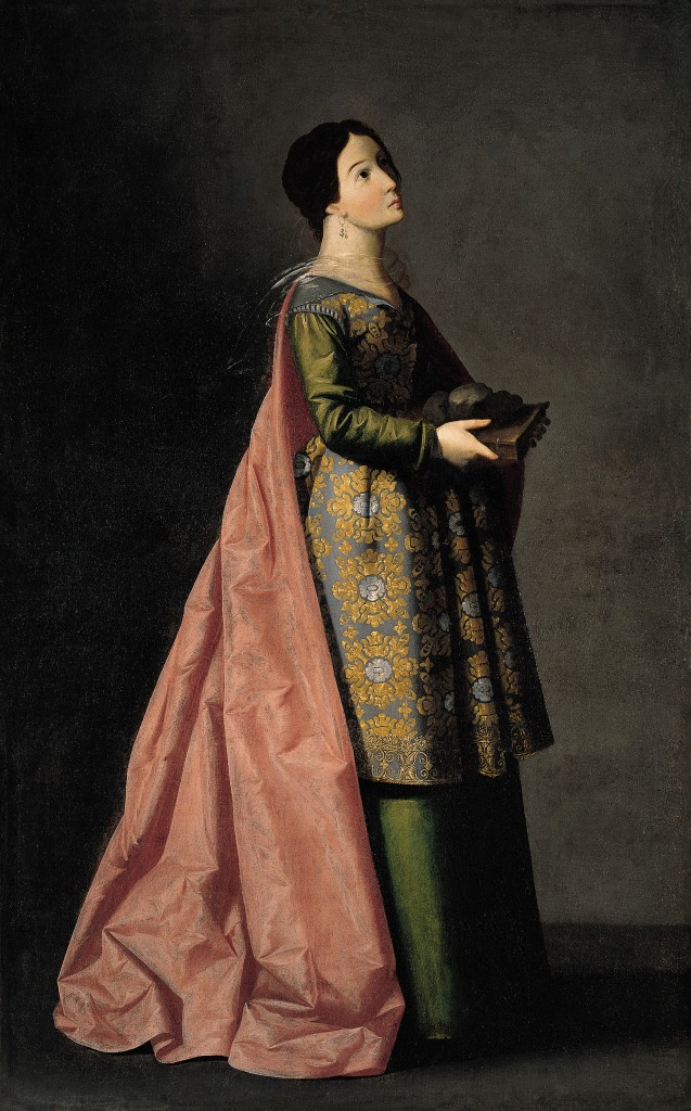 Francisco de Zurbarán. Santa Emerenciana, h. 1635. Nueva York, The Hispanic Society of America