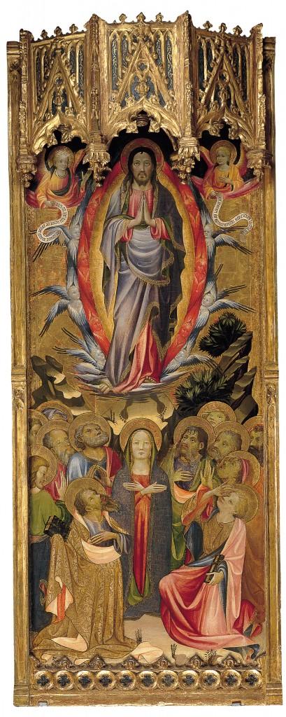 Miguel Alcañiz. La Ascensión, Valencia, h. 1422-1430. Nueva York, The Hispanic Society of America