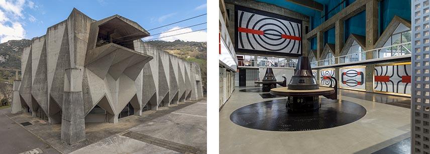 Joaquín Vaquero Palacios. Central hidroeléctrica de Proaza (Asturias). Exterior e integración artística, 1964-1968. Foto: Luis Asín