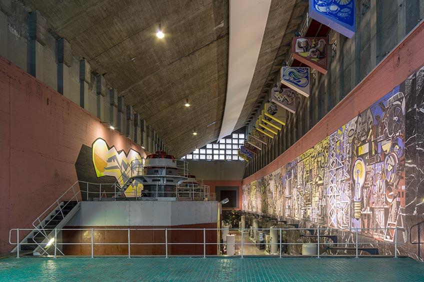 Joaquín Vaquero Palacios y Joaquín Vaquero Turcios. Integración artística en la Central hidroeléctrica de Salime (Asturias), 1954-1980. Foto: Luis Asín