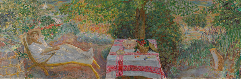 Pierre Bonnard. Resting in the Garden, 1914