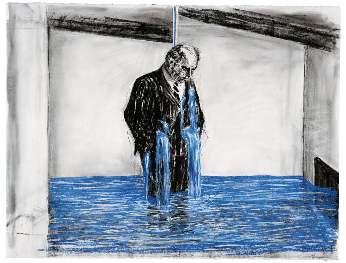 William Kentridge. Dibujo para el filme Stereoscope, 1999