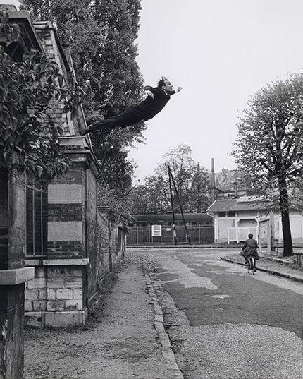 Yves Klein. Leap into the Void 1960 © Yves Klein, ADAGP, Paris Photo: Shunk–Kender © Roy Lichtenstein Foundation