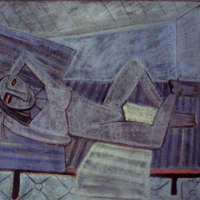 Wifredo Lam. El descanso de la modelo, 1941