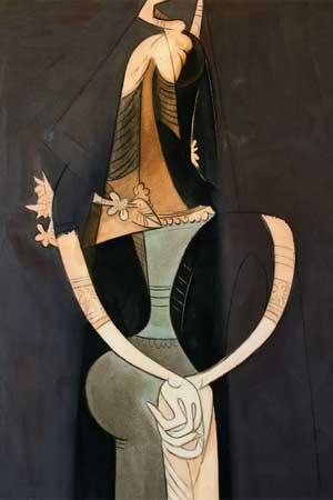 Wifredo Lam. Las manos cruzadas, 1951