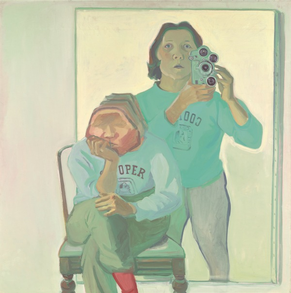 Maria Lassnig. Double Self-Portrait with Camera, 1974 © Maria Lassnig Foundation