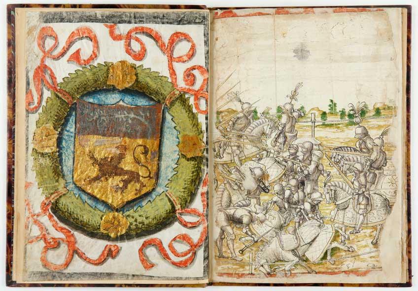 Certificación de las armas de Olivera, expedida por Garci Alonso de Torres. 1521. IB. 14987.