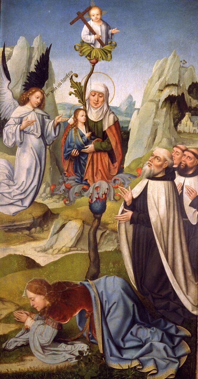 Maestro Johannes. La visión de la  descendencia de  santa Emerencia en  Monte Carmelo, primer tercio del s XVI. © Museo Lázaro  Galdiano