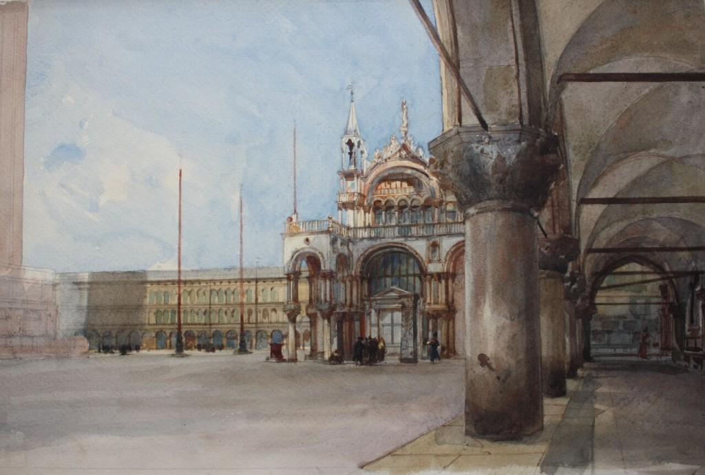 Eugenio Lucas Velázquez. Plaza de San Marcos. Venecia, 1868. © Museo Lázaro Galdiano