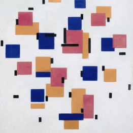 Piet Mondrian. Compositie in Kleur B (Composition in Colour B) 1917  Kröller-Müller Museum, Otterlo, The Netherlands  © 2014 Mondrian/Holtzman Trust c/o HCR International USA