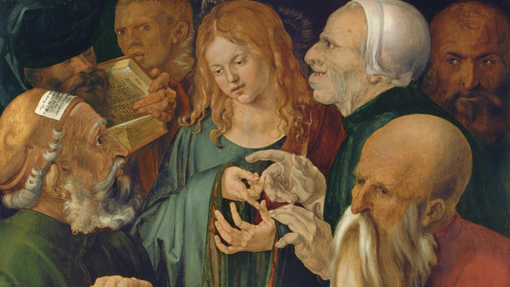 Alberto Durero. Jesús entre los doctores, 1506. Museo Thyssen-Bornemisza