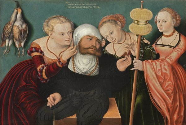 Hans Cranach. Hércules en la corte de Onfalia, 1537. Museo Thyssen-Bornemisza, Madrid