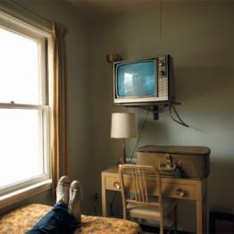 Stephen Shore. Habitación 125, Westbank Motel, Idaho Falls, Idaho, 18 de julio de 1973. De la serie Uncommon Places
