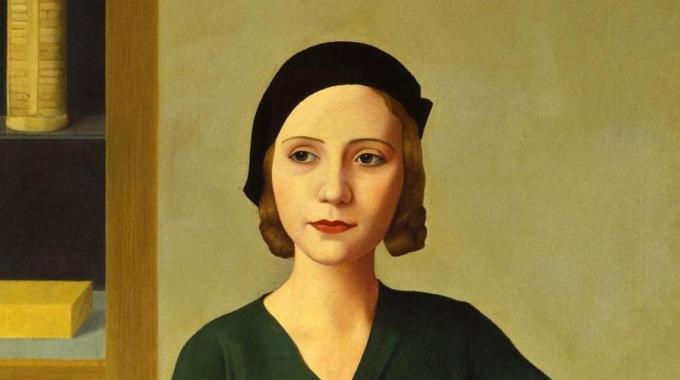 Antonio Donghi. Donna al caffè, 1931. (Fragmento). Fondazione Musei Civici , Venecia
