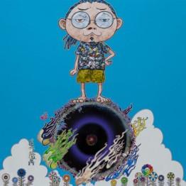 Takashi Murakami. Standing on the Bridge Linking Space and Time, 2014