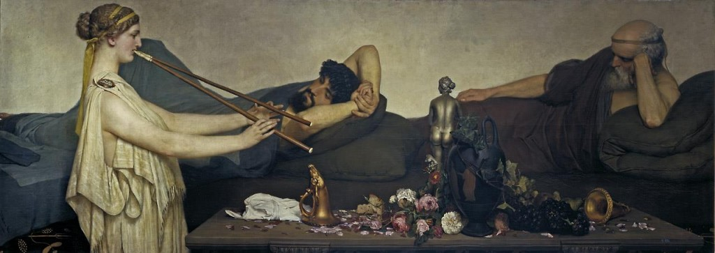 Lawrence Alma Tadema. LA siesta o Escena pompeyana, 1868. Museo Nacional del Prado